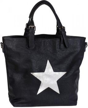 styleBREAKER Handtasche mit Stern Cutout und Ziernaht, glitzer Stern Schultertasche, Damen 02012065 – Bild 7