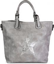 styleBREAKER Handtasche mit Stern Cutout und Ziernaht, glitzer Stern Schultertasche, Damen 02012065 – Bild 2