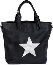 styleBREAKER Handtasche mit Stern Cutout und Ziernaht, glitzer Stern Schultertasche, Damen 02012065 – Bild 1