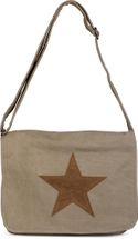 styleBREAKER canvas shoulder bag with artificial leather star patch, bag, unisex 02012068 – Bild 9
