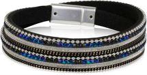 styleBREAKER Wickelarmband mit Strass, Gliederkette und Kügelchen, Magnetverschluss Armband, Damen 05040054 – Bild 6