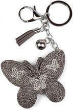 styleBREAKER Schlüsselanhänger mit Schmetterling Strass Anhänger, Quaste, Befestigungsring, Karabiner, Damen 05050015 – Bild 1