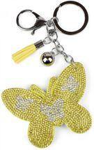 styleBREAKER Schlüsselanhänger mit Schmetterling Strass Anhänger, Quaste, Befestigungsring, Karabiner, Damen 05050015 – Bild 12