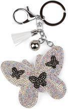 styleBREAKER keyring pendant with butterfly rhinestone pendant, tassel, fastening ring, karabiner, ladies 05050015 – Bild 13