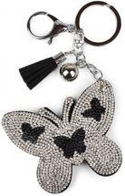 styleBREAKER keyring pendant with butterfly rhinestone pendant, tassel, fastening ring, karabiner, ladies 05050015 – Bild 15
