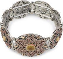 styleBREAKER Stern Form Gummizug Armband mit Perlen und Strass besetzten Amuletten, Boho Style, Damen 05040059 – Bild 10