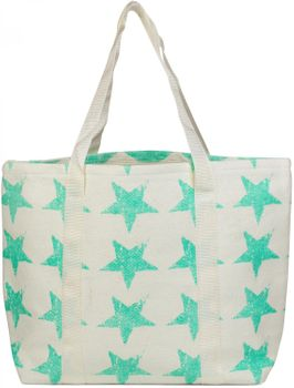 styleBREAKER vintage star design beach bag with zipper, sling bag, shopper, spa bag, ladies 02012073 – Bild 3
