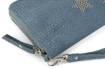 styleBREAKER Geldbörse mit Nieten Stern, umlaufender Reißverschluss und Handschlaufe, Portemonnaie, Damen 02040043 – Bild 15