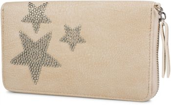 styleBREAKER Geldbörse mit Nieten Stern, umlaufender Reißverschluss und Handschlaufe, Portemonnaie, Damen 02040043 – Bild 3
