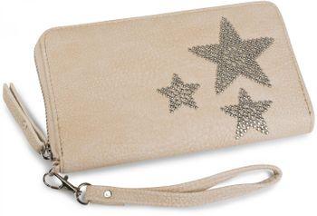 styleBREAKER Geldbörse mit Nieten Stern, umlaufender Reißverschluss und Handschlaufe, Portemonnaie, Damen 02040043 – Bild 10