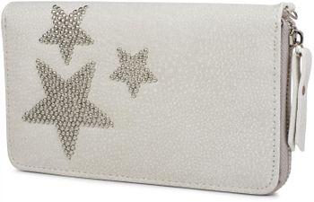 styleBREAKER Geldbörse mit Nieten Stern, umlaufender Reißverschluss und Handschlaufe, Portemonnaie, Damen 02040043 – Bild 1