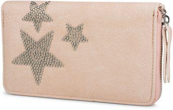 styleBREAKER Geldbörse mit Nieten Stern, umlaufender Reißverschluss und Handschlaufe, Portemonnaie, Damen 02040043 – Bild 2