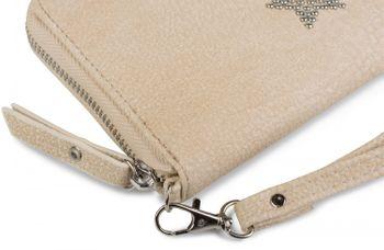 styleBREAKER Geldbörse mit Nieten Stern, umlaufender Reißverschluss und Handschlaufe, Portemonnaie, Damen 02040043 – Bild 11