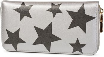 styleBREAKER all over stars design purse, circumferential zipper, wallet, ladies 02040044 – Bild 1