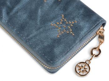 styleBREAKER Vintage Geldbörse mit Sterne aus Kugelnieten, umlaufender Reißverschluss, Portemonnaie, Damen 02040045 – Bild 8