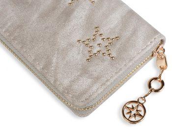 styleBREAKER ball rivets star design vintage purse, circumferential zipper, wallet, women 02040045 – Bild 14