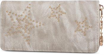 styleBREAKER Vintage Geldbörse mit Sterne aus Kugelnieten, umlaufender Reißverschluss, Portemonnaie, Damen 02040045 – Bild 7