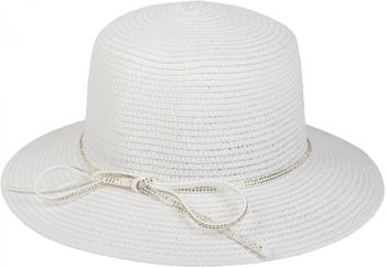 styleBREAKER straw hat with rhinestone ribbon and bow, sun hat, hat, ladies 04025011 – Bild 7