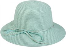 styleBREAKER straw hat with rhinestone ribbon and bow, sun hat, hat, ladies 04025011 – Bild 5