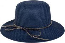 styleBREAKER Strohhut mit Zierband aus Strasssteinen und Schleife, Sonnenhut, Hut, Damen 04025011 – Bild 3