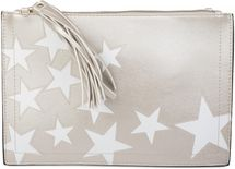 styleBREAKER star design clutch, tassel pendant upon zipper, wrist and shoulder strap, ladies 02012075 – Bild 3