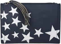styleBREAKER star design clutch, tassel pendant upon zipper, wrist and shoulder strap, ladies 02012075 – Bild 4