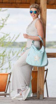 styleBREAKER Shopper Handtasche im Vintage Look mit Stern, Schultertasche, Umhängetasche, Damen 02012076 – Bild 18