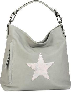 styleBREAKER Shopper Handtasche im Vintage Look mit Stern, Schultertasche, Umhängetasche, Damen 02012076 – Bild 10