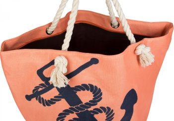 styleBREAKER Strandtasche in Flecht Optik mit Anker Print, Shopper, Badetasche, Damen 02012077 – Bild 8