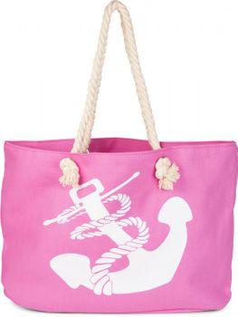 styleBREAKER Strandtasche in Flecht Optik mit Anker Print, Shopper, Badetasche, Damen 02012077 – Bild 13
