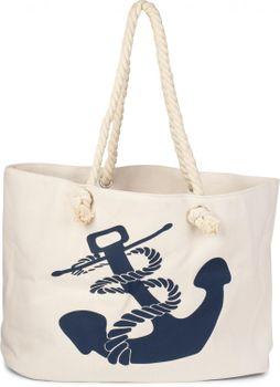styleBREAKER Strandtasche in Flecht Optik mit Anker Print, Shopper, Badetasche, Damen 02012077 – Bild 10