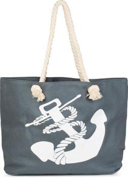 styleBREAKER Strandtasche in Flecht Optik mit Anker Print, Shopper, Badetasche, Damen 02012077 – Bild 11