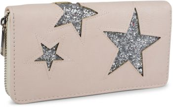 styleBREAKER sequined purse with star cutout print, circumferential zipper, wallet, women 02040046  – Bild 4