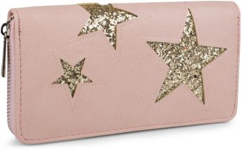 styleBREAKER sequined purse with star cutout print, circumferential zipper, wallet, women 02040046  – Bild 3