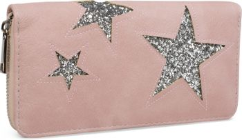 styleBREAKER sequined purse with star cutout print, circumferential zipper, wallet, women 02040046  – Bild 6