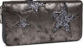 styleBREAKER sequined purse with star cutout print, circumferential zipper, wallet, women 02040046  – Bild 7