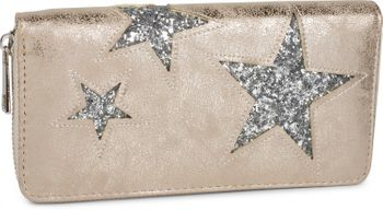 styleBREAKER sequined purse with star cutout print, circumferential zipper, wallet, women 02040046  – Bild 9