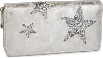 styleBREAKER sequined purse with star cutout print, circumferential zipper, wallet, women 02040046  – Bild 10