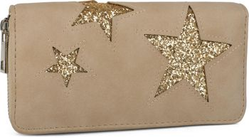 styleBREAKER sequined purse with star cutout print, circumferential zipper, wallet, women 02040046  – Bild 11