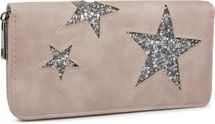 styleBREAKER sequined purse with star cutout print, circumferential zipper, wallet, women 02040046  – Bild 5