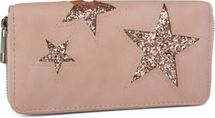 styleBREAKER sequined purse with star cutout print, circumferential zipper, wallet, women 02040046  – Bild 1
