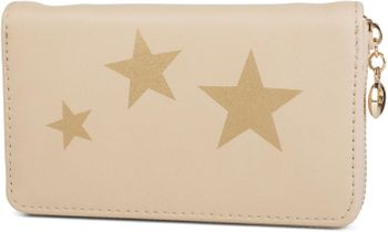 styleBREAKER Geldbörse mit Sterne Print, umlaufender Reißverschluss, Portemonnaie, Damen 02040047 – Bild 5