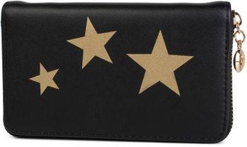 styleBREAKER Geldbörse mit Sterne Print, umlaufender Reißverschluss, Portemonnaie, Damen 02040047 – Bild 1
