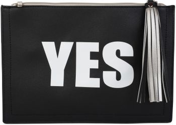 "styleBREAKER ""YES"" or ""NO"" print clutch, tassel pendant upon zipper, arm and shoulder strap, ladies 02012078 – Bild 8"