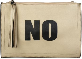"styleBREAKER ""YES"" or ""NO"" print clutch, tassel pendant upon zipper, arm and shoulder strap, ladies 02012078 – Bild 3"