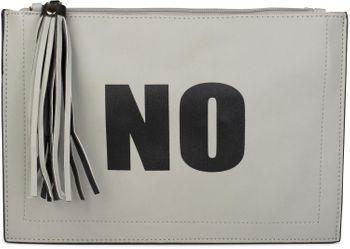 "styleBREAKER ""YES"" or ""NO"" print clutch, tassel pendant upon zipper, arm and shoulder strap, ladies 02012078 – Bild 17"