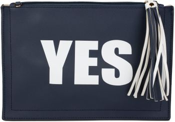 "styleBREAKER ""YES"" or ""NO"" print clutch, tassel pendant upon zipper, arm and shoulder strap, ladies 02012078 – Bild 16"