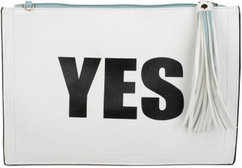 "styleBREAKER ""YES"" or ""NO"" print clutch, tassel pendant upon zipper, arm and shoulder strap, ladies 02012078 – Bild 6"