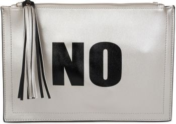 "styleBREAKER ""YES"" or ""NO"" print clutch, tassel pendant upon zipper, arm and shoulder strap, ladies 02012078 – Bild 7"