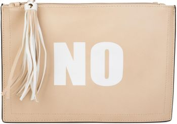 "styleBREAKER ""YES"" or ""NO"" print clutch, tassel pendant upon zipper, arm and shoulder strap, ladies 02012078 – Bild 9"